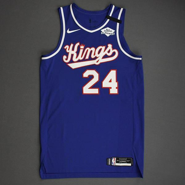 Image of Buddy Hield - Sacramento Kings - Game-Worn Classic Edition 1990-94 Road Jersey - 2019-20 NBA Season