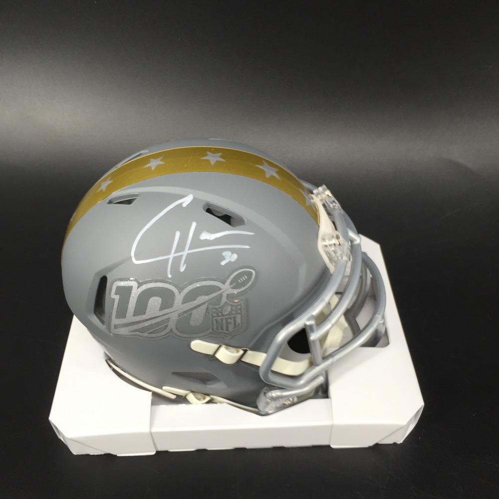 NFL - Vikings C. J. Ham Signed Pro Bowl 2020 Mini Helmet