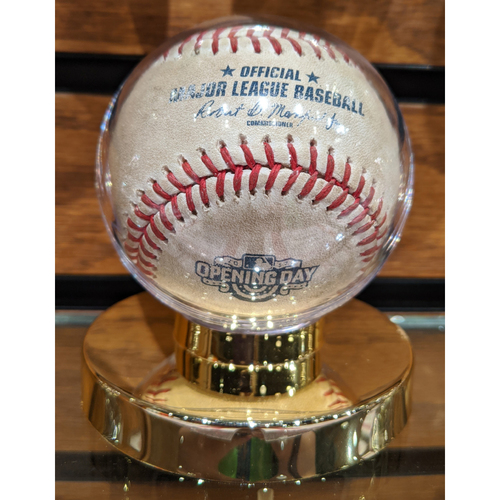 Photo of Pittsburgh Pirates vs. Boston Red Sox April 3, 2017 Opening Day Game Used Baseball