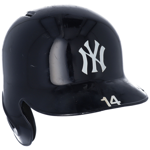 Photo of Neil Walker New York Yankees Game-Used #14 Batting Helmet from the 2018 MLB Season - Size 7 1/4