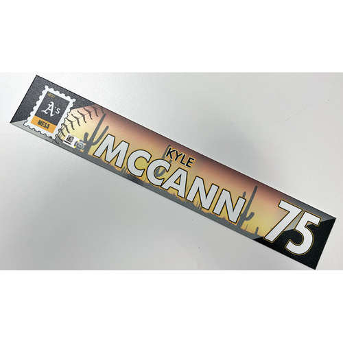 Photo of Game-Used 2021 Spring Training Locker Nameplate - Kyle McAnn