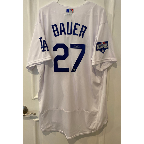 Photo of Trevor Bauer Authentic Autographed Los Angeles Dodgers Jersey