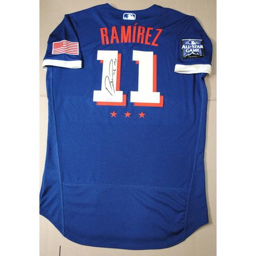 Photo of Jose Ramirez 2021 Major League Baseball All-Star Game Autographed Jersey