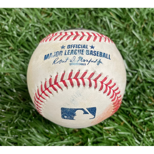Photo of Game Used Baseball: Liam Hendriks strikes out Wander Franco - Bottom 10 - August 20, 2021 v CWS