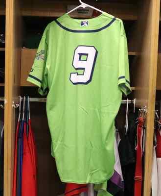 Stockton Ports Joshwan Wright Asparagus jersey, #9, Size 46