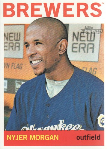 Photo of 2013 Topps Heritage #379 Nyjer Morgan