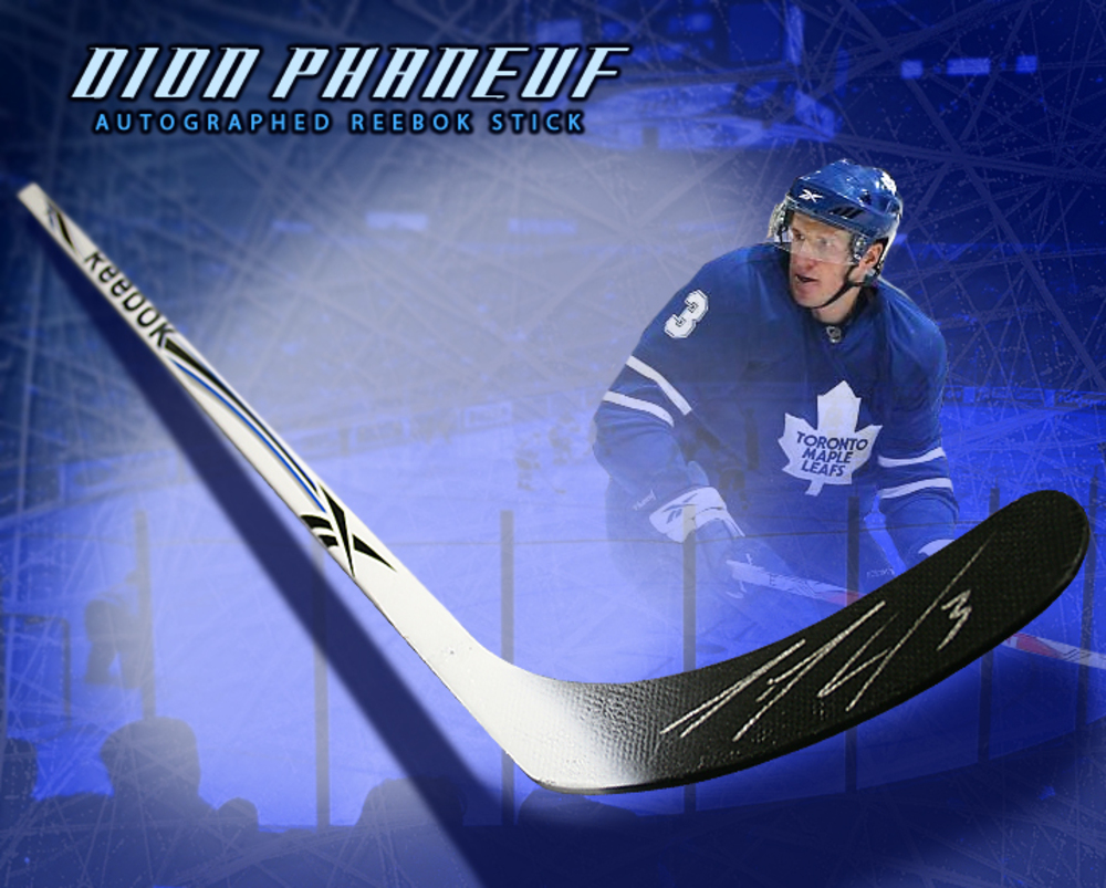 DION PHANEUF Signed Reebok Stick - Toronto Maple Leafs