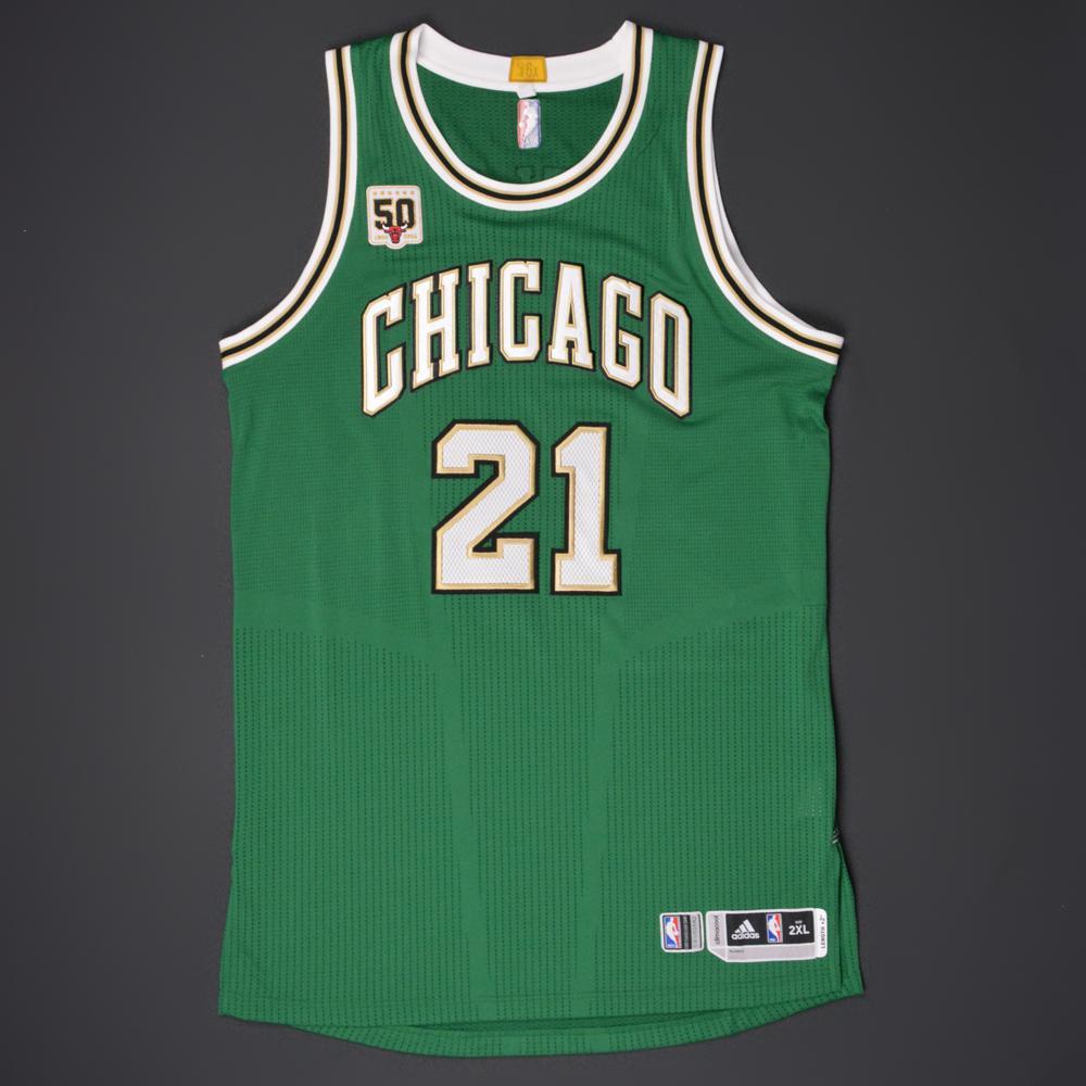 quality design 7b10d 88767 Jimmy Butler - Chicago Bulls - Game-Worn 'St. Patrick's Day ...