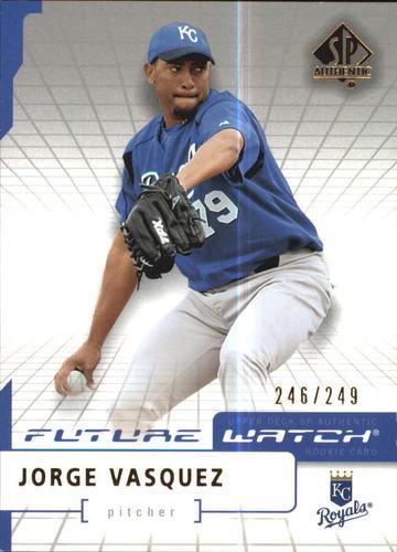 Photo of 2004 SP Authentic 499/249 #113 Jorge Vasquez FW