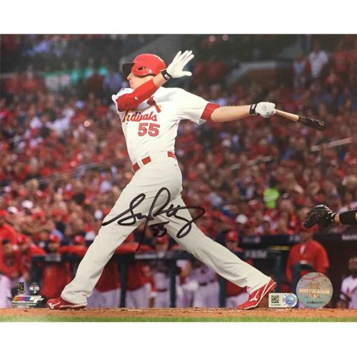 Cardinals Authentics: Stephen Piscotty Autographed Batting Photo
