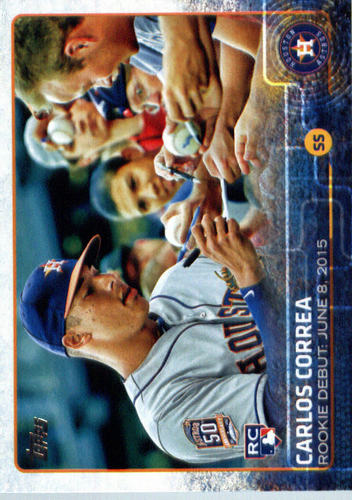 Photo of 2015 Topps Update #US251 Carlos Correa Rookie Card