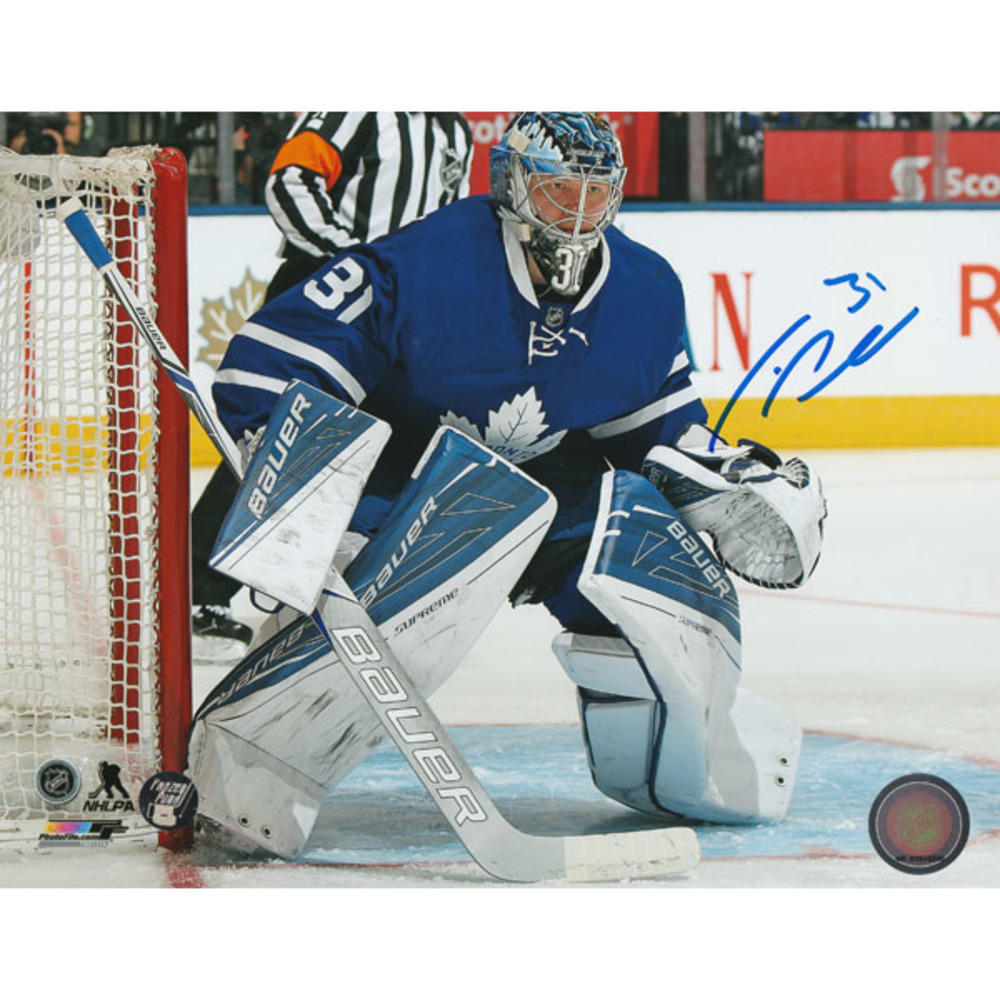 Frederik Andersen Autographed Toronto Maple Leafs 16X20 Photo