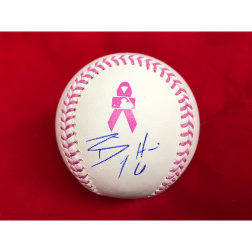 Photo of Billy Hamilton -- Autographed Mother's Day Baseball