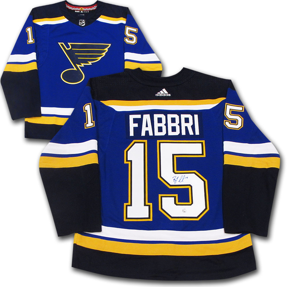 Robby Fabbri Autographed St. Louis Blue adidas Pro Jersey