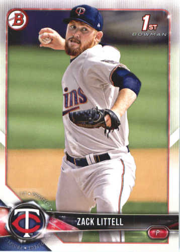 Photo of 2018 Bowman Prospects #BP101 Zack Littell