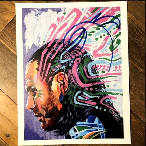 Photo of Jeff Hardy SIGNED 11 x 14 Rob Schamberger Print