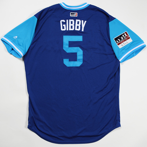 """Photo of John """"Gibby"""" Gibbons Toronto Blue Jays Team Issued Jersey 2018 Players' Weekend Jersey"""