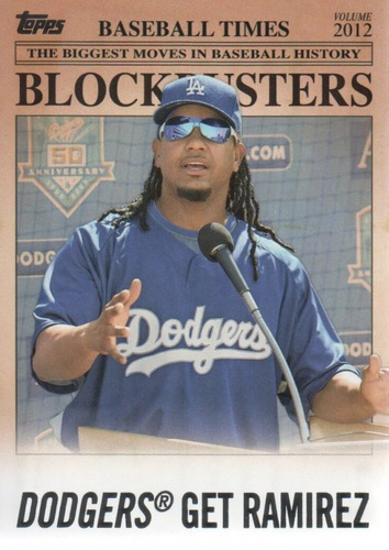 Photo of 2012 Topps Update Blockbusters #BB29 Manny Ramirez