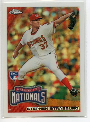 Photo of 2010 Topps Chrome Refractors #212 Stephen Strasburg