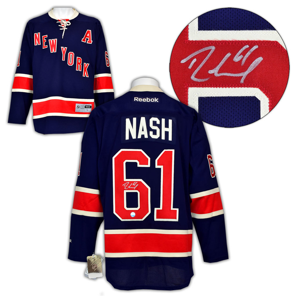 Rick Nash New York Rangers Autographed Alternate Reebok Premier Hockey Jersey