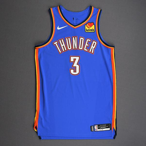 Image of Chris Paul - Oklahoma City Thunder - Game-Worn Icon Edition Jersey - 2019-20 Season