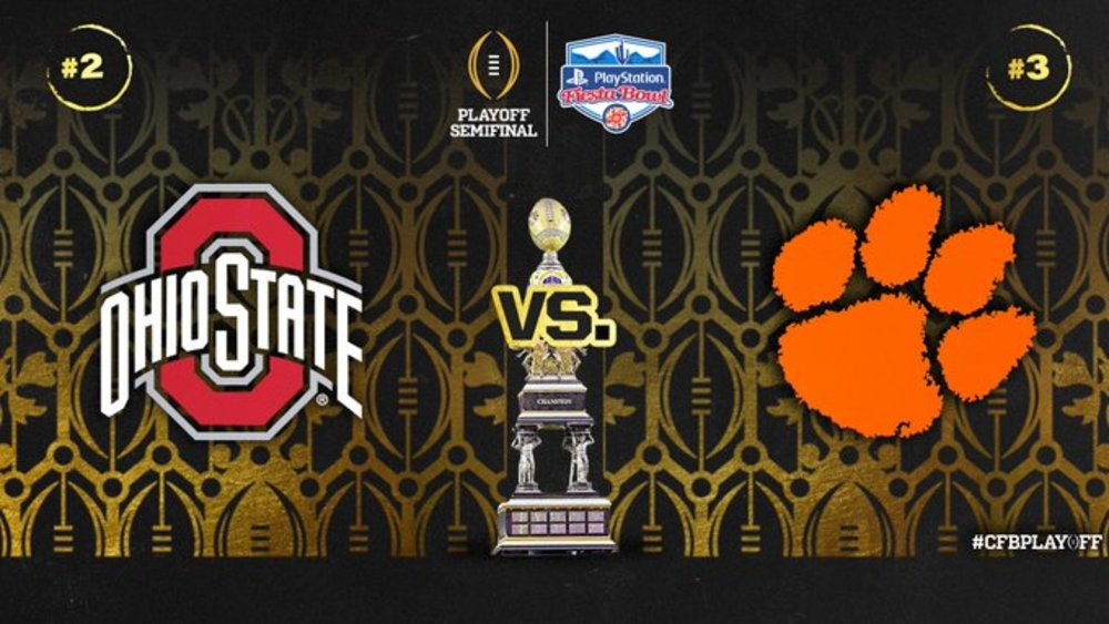Ohio State vs Clemson - College Football Playoff Semi Final Experience- Fiesta Bowl - Experience for 2 - Game is in Glendale, AZ at State Farm Stadium on 12.28.19