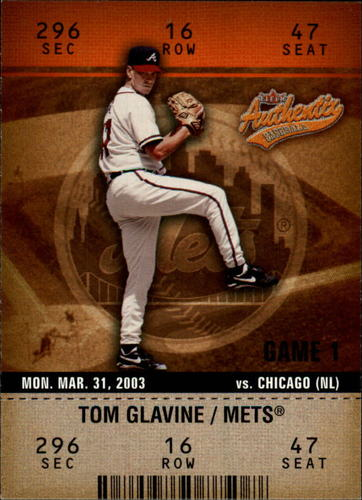 Photo of 2003 Fleer Authentix #2 Tom Glavine