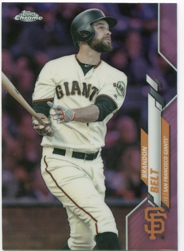 Photo of 2020 Topps Chrome Pink Refractors #147 Brandon Belt