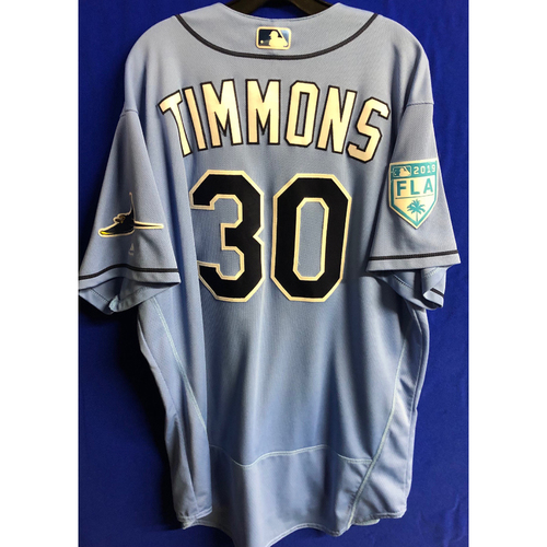 Photo of Game Used Spring Training Jersey: Ozzie Timmons - March 26, 2019 v DET