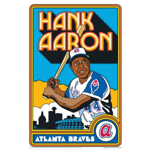 Photo of Hank Aaron - Braves Art in the Park Poster by Todd Radom