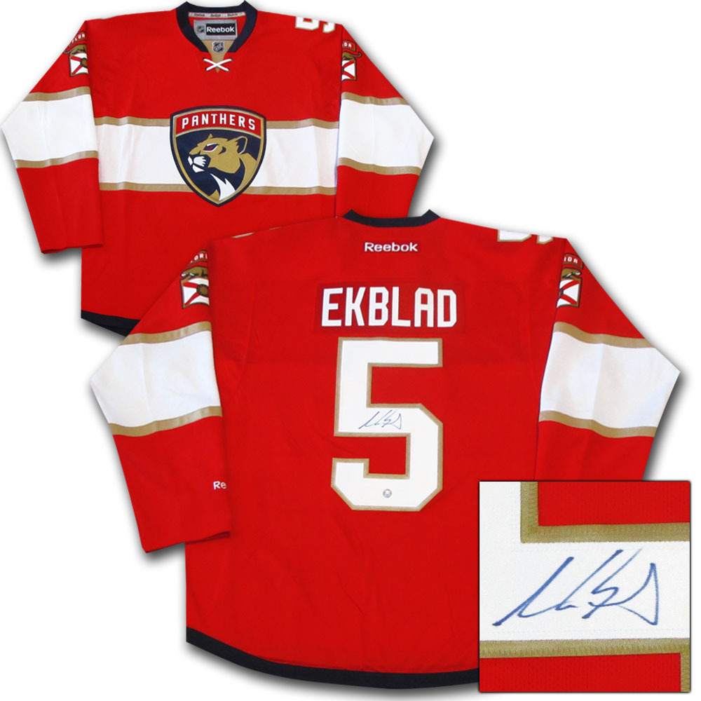 new arrivals a4627 52728 Aaron Ekblad Autographed Florida Panthers Jersey - NHL Auctions