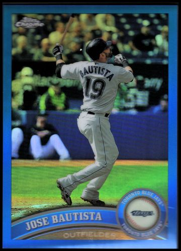 Photo of 2011 Topps Chrome Blue Refractors #76 Jose Bautista