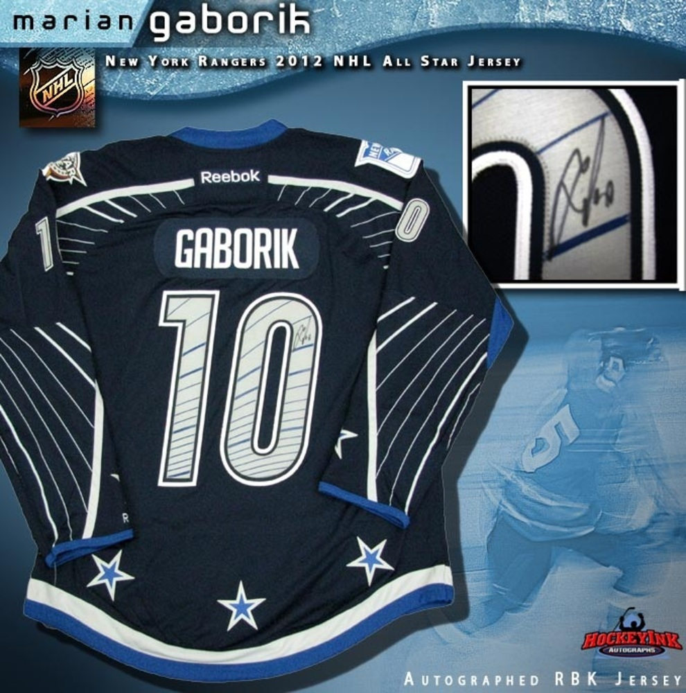 MARIAN GABORIK Signed New York Rangers 2012 All Star Game Reebok Premier Jersey