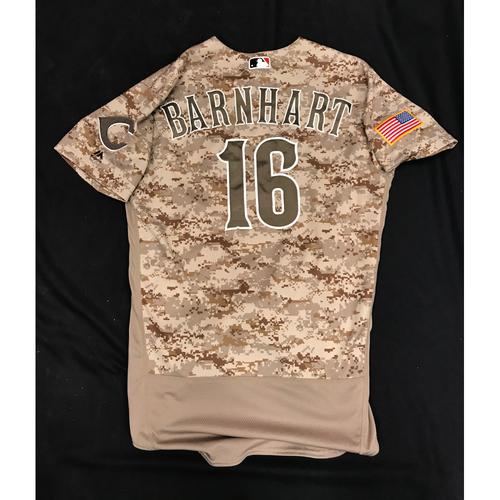 Tucker Barnhart's Jersey worn during Scooter Gennett's Historical 4-Home Run Game on June 6, 2017 (Starting C)