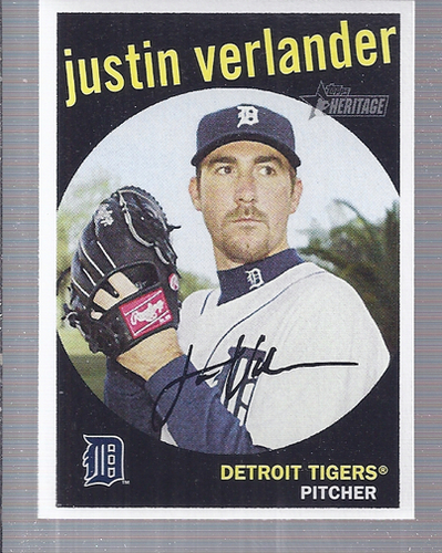 Photo of 2008 Topps Heritage #338 Justin Verlander -- Astros post-season