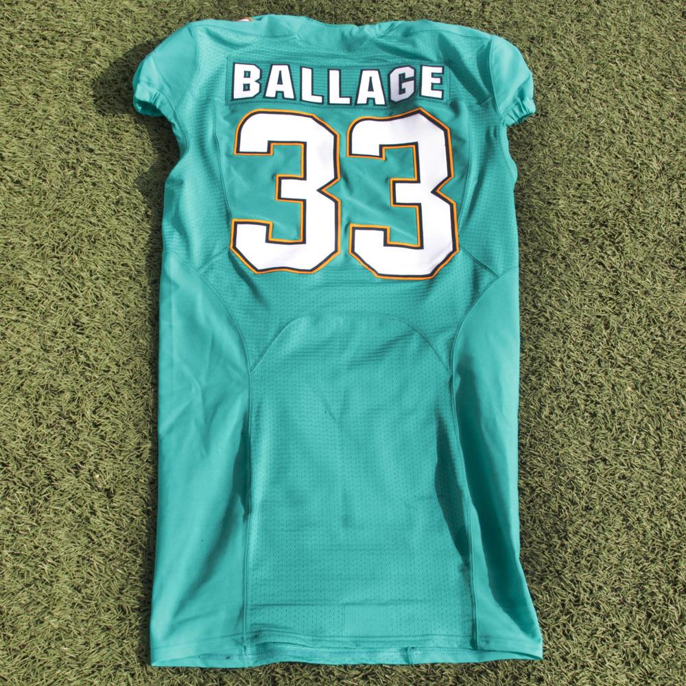 meet a2b8b 77de9 Kalen Ballage Miami Dolphins Event-Worn 2018 NFLPA Rookie ...