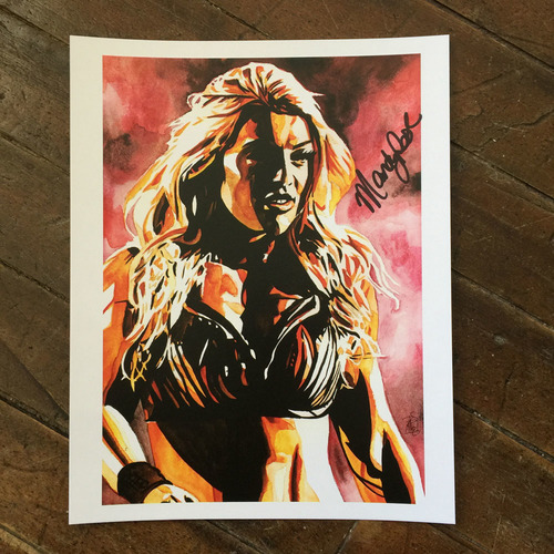 Photo of Mandy Rose SIGNED 11 x 14 Rob Schamberger Print
