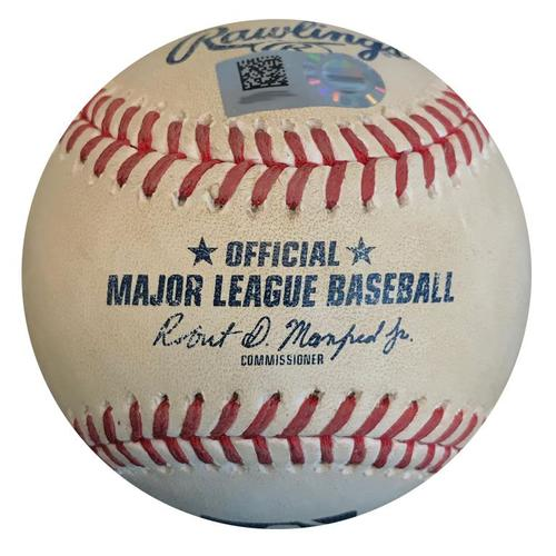 Photo of Game-Used Baseball from Pirates vs. Mets on 7/29/18 - Jose Bautista Hit by Pitch
