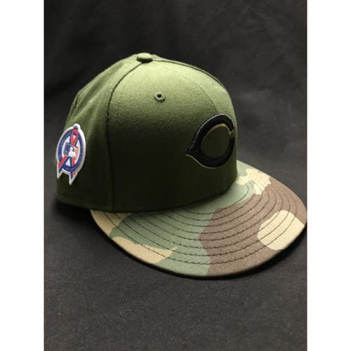 Photo of Amir Garrett - Game-Used - Military Appreciation Hat (Worn: 2018)