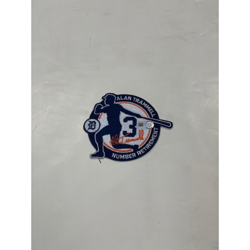Photo of Alan Trammell Number Retirement Commemorative Patch