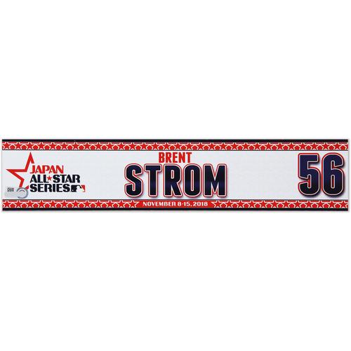 Photo of 2018 Japan Series Game-Used Locker Tag - Brent Strom -  Astros