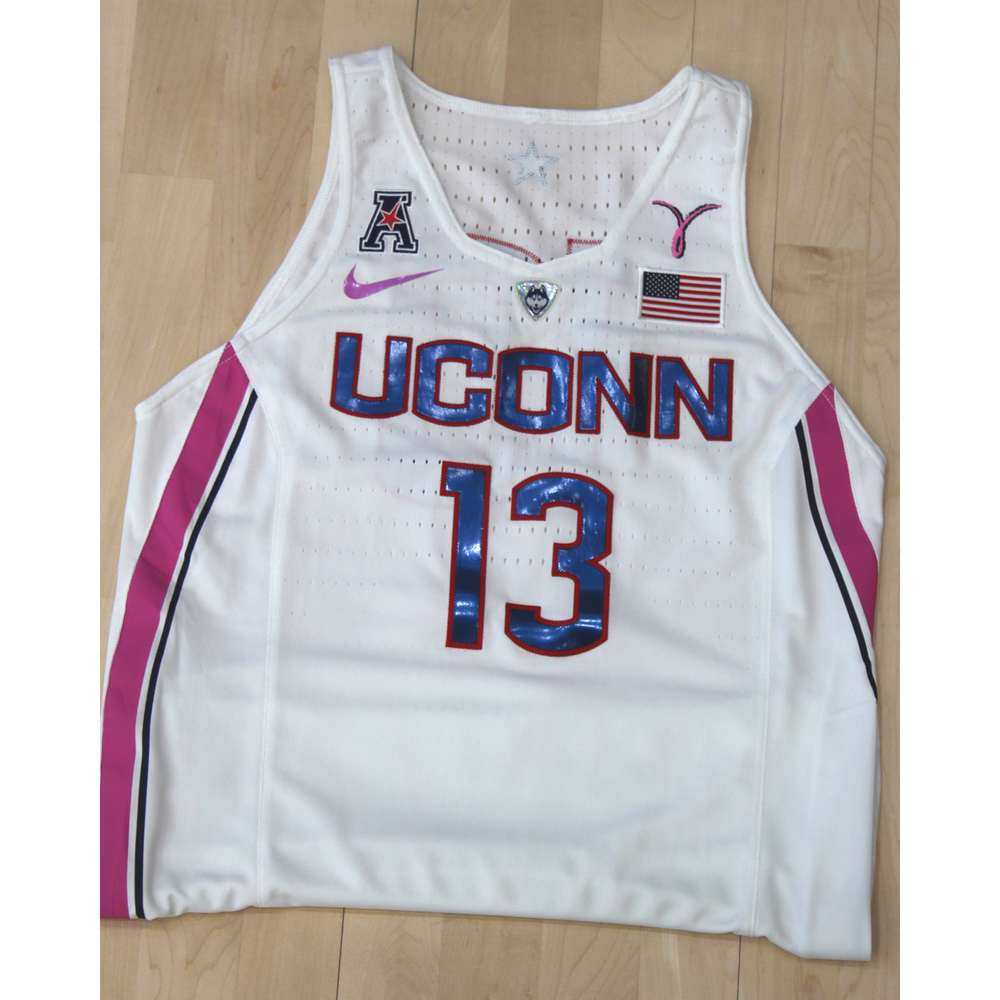 8c78ee3c1fa UConn Huskies Auctions | UConn Women's Basketball #13 Nike Jersey From The Pink  Game Against Temple On 2/9/19