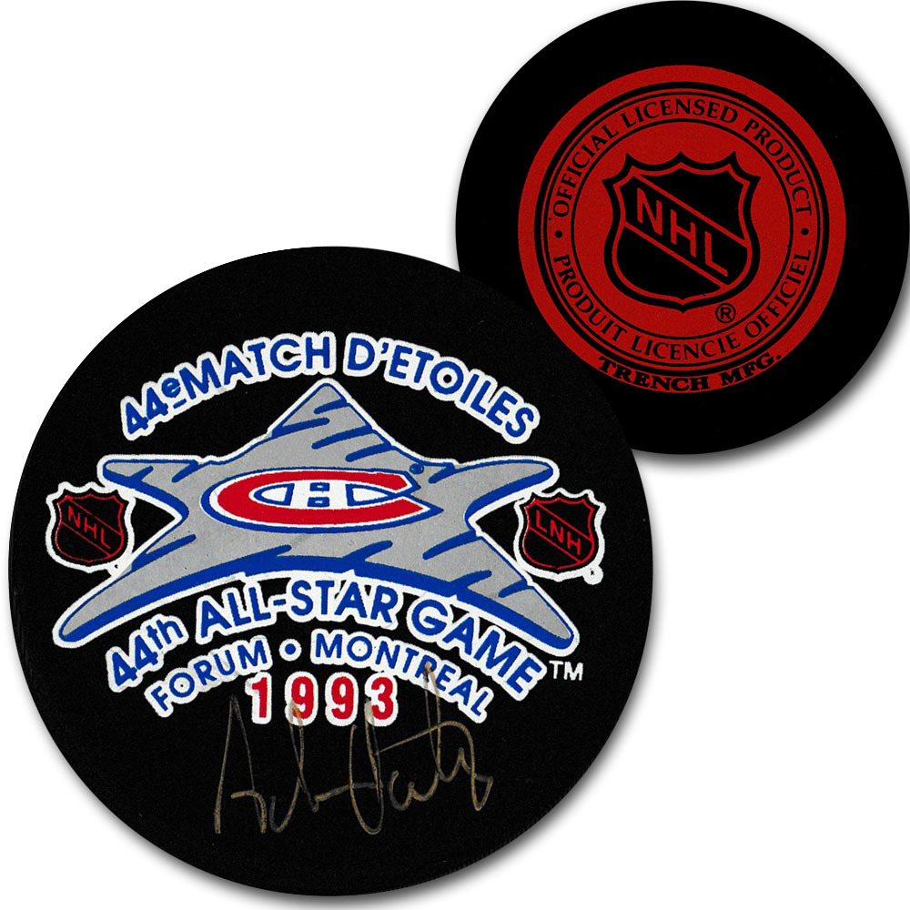 Adam Oates Autographed 1993 NHL All-Star Game Puck
