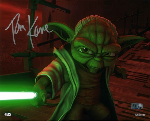 PREORDER Tom Kane As Yoda 8x10 Autographed in Silver Ink
