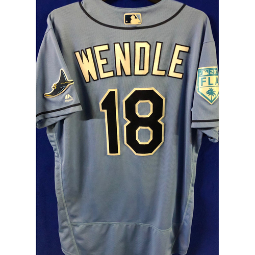 Photo of Game Used Spring Training Jersey: Joey Wendle - March 26, 2019 v DET