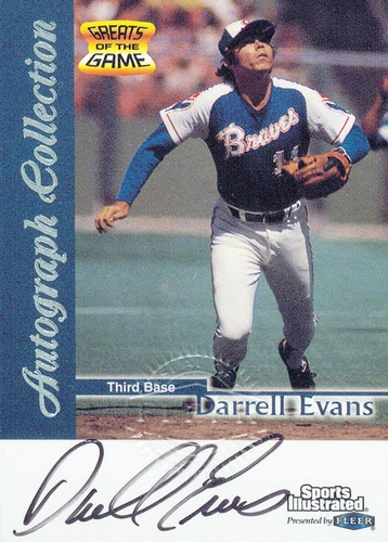 Photo of 1999 Sports Illustrated Greats of the Game Autographs #20 Darrell Evans