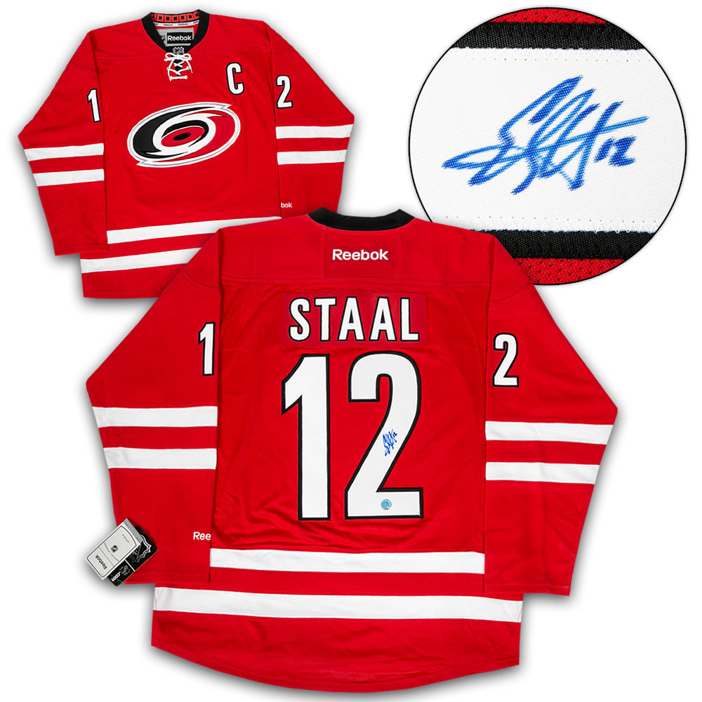 Eric Staal Carolina Hurricanes Autographed Reebok Premier Hockey Jersey