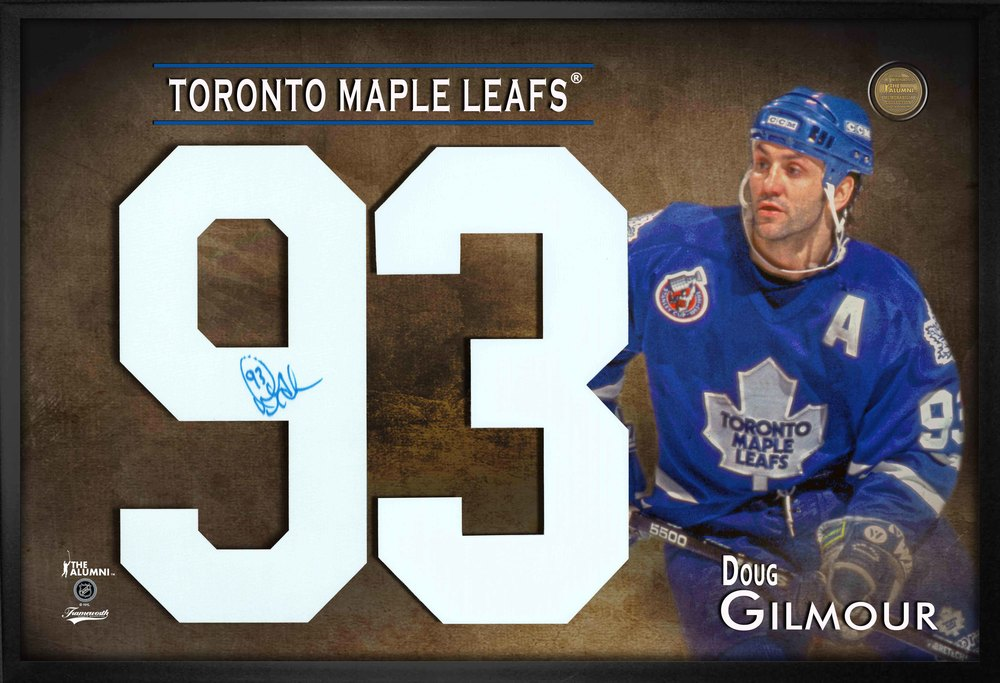 info for 105d9 8bda7 Doug Gilmour Signed Jersey Number Framed Print Maple Leafs ...