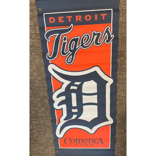 Photo of Team-Issued Comerica Park Banner