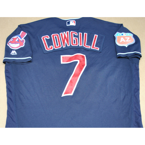Photo of Game-Used 2016 Spring Training Jersey - Collin Cowgill - Size 46 - Cleveland Indians